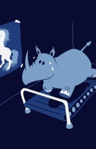 Runnin' Rhino, Girly Tank Tops + Threadless Collection