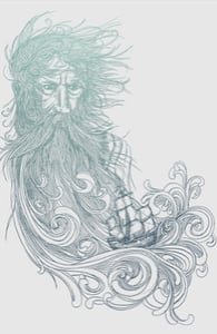 Sea Beard, David's Designs + Threadless Collection