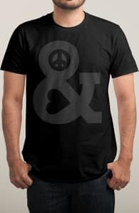 Peace and Love, $15 aka Three Lincolns! + Threadless Collection