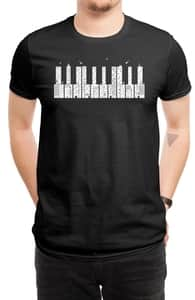 Piano Skyline, New and Top Selling Music T-Shirts + Threadless Collection