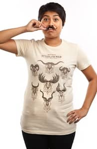 Sport Your Stache., Girly Tees + Threadless Collection