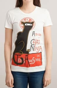A French Ninja Cat!, Best Ladies T-Shirts + Threadless Collection