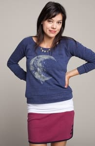 Moon Rider: Girly Tri-Blend Pullover, Select Girly on Sale + Threadless Collection