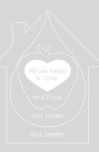 All We Need is Love. And Food. And Water. And Shelter.: Threadless Pet Bed, Pet Beds + Threadless Collection