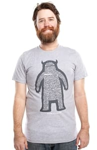 Anatomy of a Monster, Justin's Designs + Threadless Collection