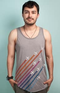 Flying Colors, Guys Tank Tops + Threadless Collection
