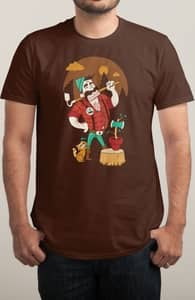 Green Thumberjack, Brian's Designs + Threadless Collection