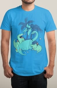 Polo with Dinosaurs, Anna-Marie's Designs + Threadless Collection