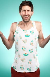 Luausy Vacation, Guys Tank Tops + Threadless Collection
