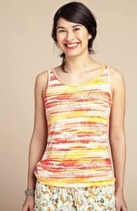 Sunset Stripes: Girly Summer Tank, Girly Select + Threadless Collection