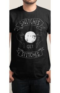 Snitches Get Stitches, Tattoo Designs + Threadless Collection
