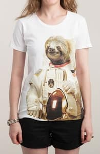 Astronaut Sloth, New and Top Selling Animal T-Shirts + Threadless Collection