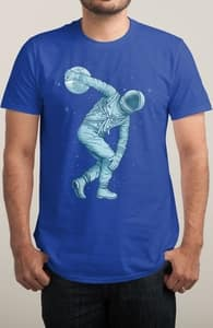 Astronaut Discus Throwing, Ben's Designs + Threadless Collection