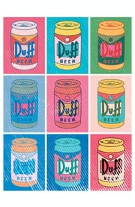 Duff Beer Can Pop Art, The Simpsons T-shirts + Threadless Collection