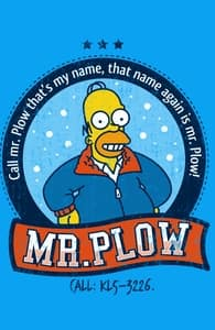 Mr. Plow, The Simpsons T-shirts + Threadless Collection
