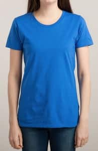 Royal Blue T-Shirt, M.T.'s Womens Designs + Threadless Collection