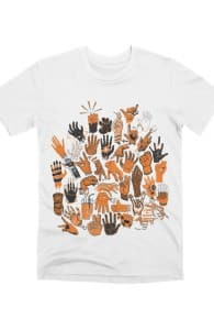 Lend a Hand, Shop these designs to support Adam White + Threadless Collection