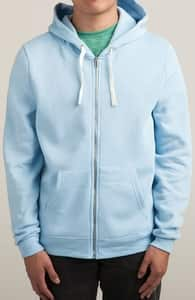 Light Blue Sweatshirts, M.T.'s Zip-Up Designs + Threadless Collection