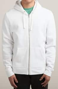 White Sweatshirts, M.T.'s Zip-Up Designs + Threadless Collection