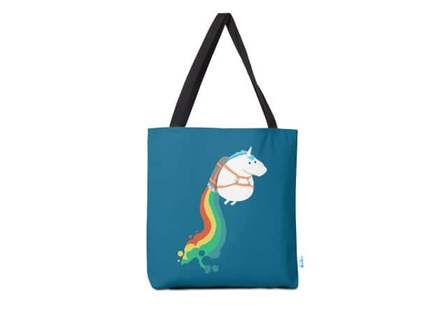 6338dcaac43b Fat unicorn on rainbow jetpack, a cool t-shirt by radiomode on ...