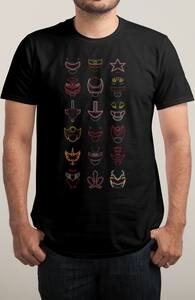 Neon Rangers, Power Rangers Tees + Threadless Collection