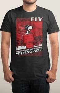 Flying Ace, New Peanuts Designs! + Threadless Collection