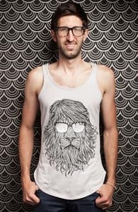 Lions Are Smarter Than I Am, Guys Tank Tops + Threadless Collection