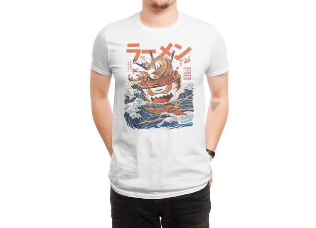 the great ramen off kanagawa a cool tshirt by ilustrata