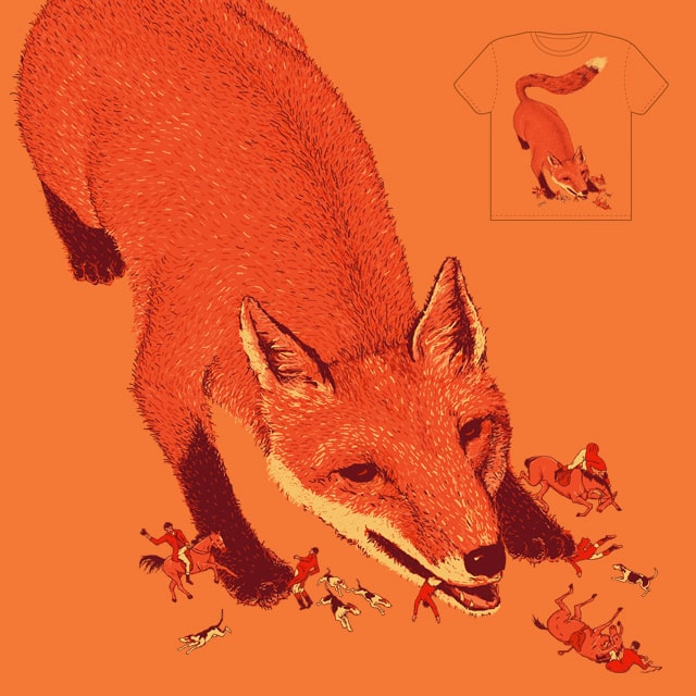 fox hunting by nbright on Threadless