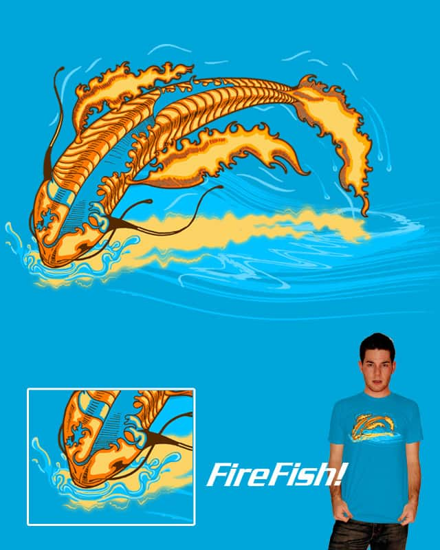 Fire Fish by artdrops on Threadless