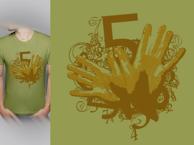 Hand's Numbers by kako64 on Threadless