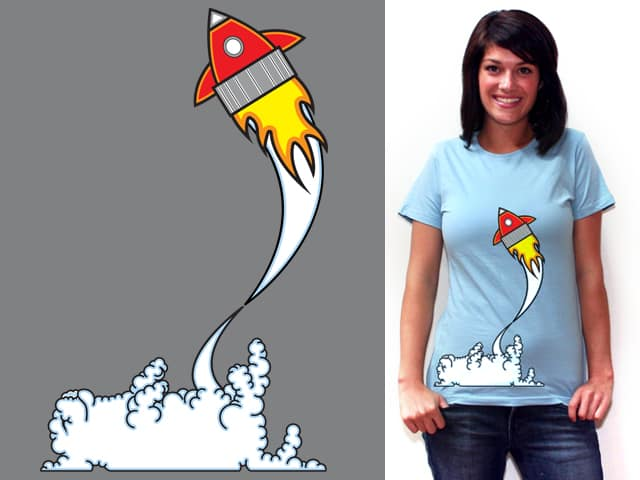 Red Rocket by techwarman on Threadless