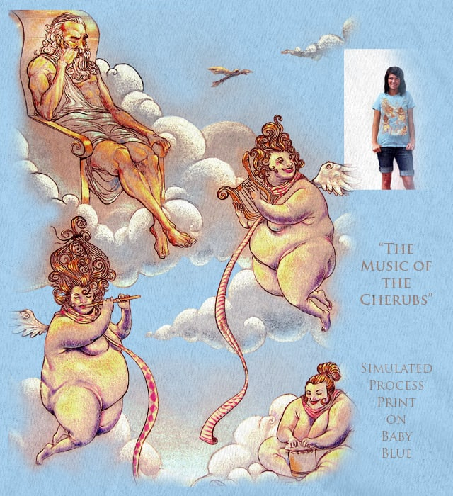 The Music of the Cherubs by slaterock on Threadless