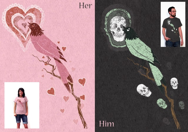 Valentines For Him and Her by slaterock on Threadless