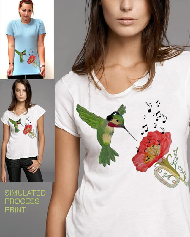 Hummingbirds Don't Sing by myteemo on Threadless