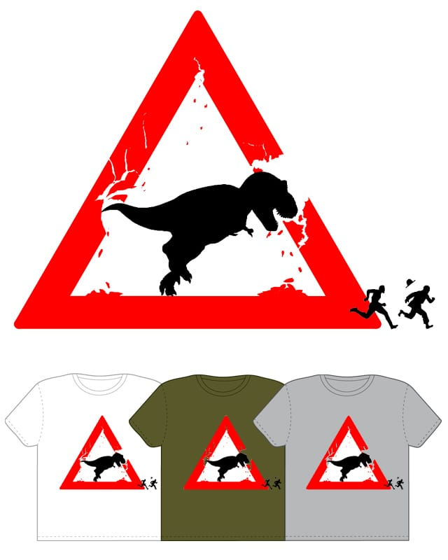 Warning: Dinosaur! by Mosquito88 on Threadless