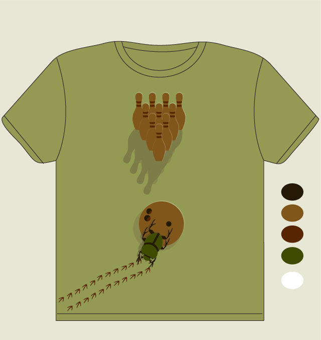 Dung Beetle Bowling by diydill on Threadless