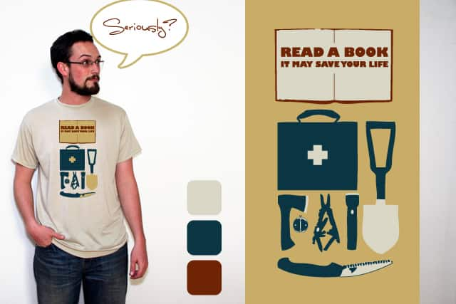 READ A BOOK by EricDiaz on Threadless