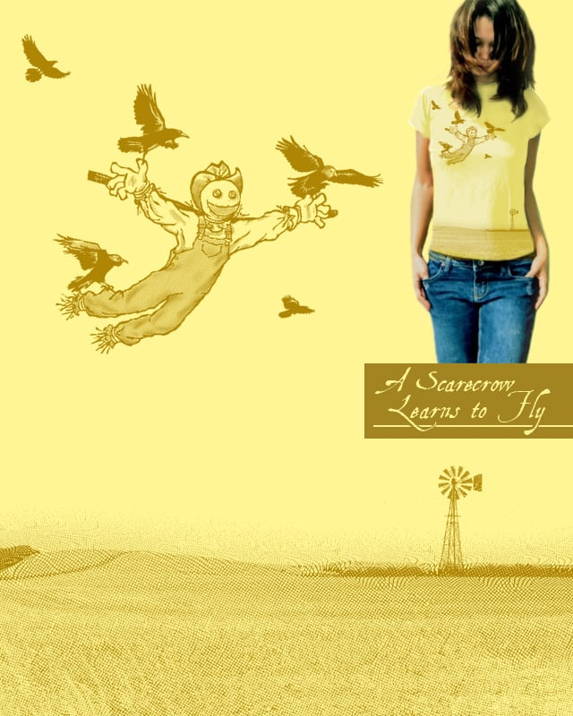 A Scarecrow Learns to Fly by Ian Leino on Threadless