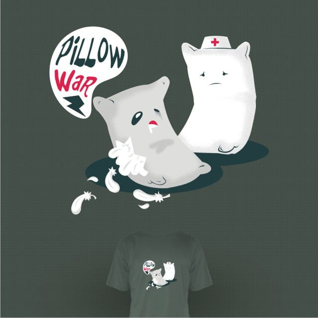 Pillow War by tobiasfonseca on Threadless