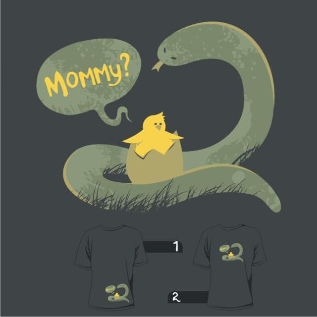 Kiss me mommy. by tobiasfonseca on Threadless