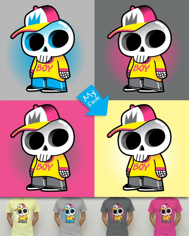 Skull Boy is Staring at You by Mike Laughead on Threadless