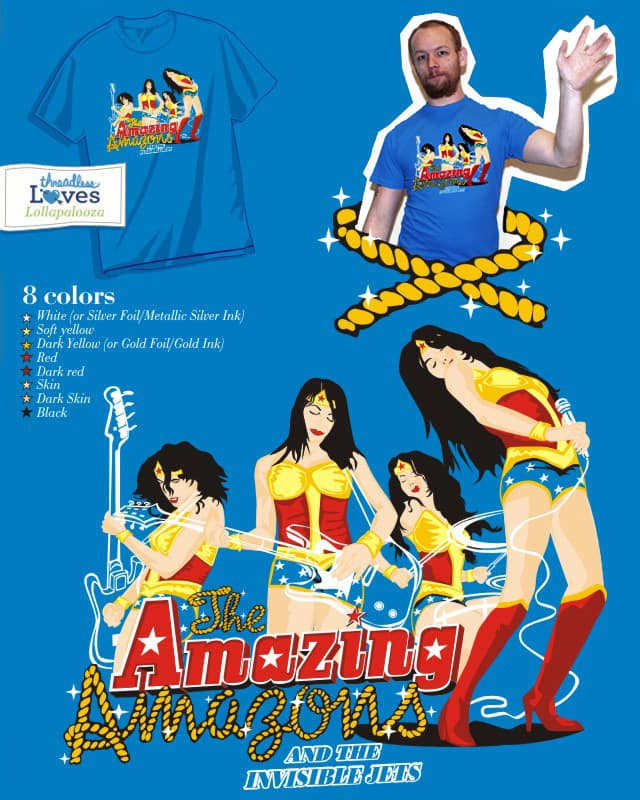Amazing Amazons and The Invisible Jets by rodrigobhz on Threadless