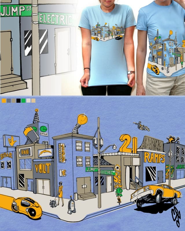 The Corner of Electric Ave. & Jump St. by burgz on Threadless