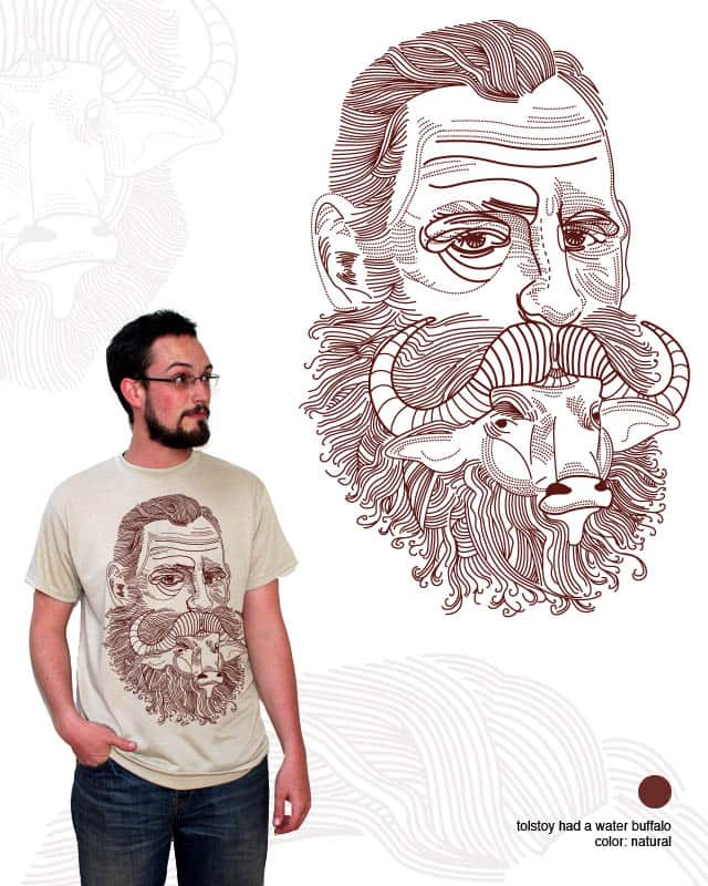 tolstoy's water buffalo by orangehead on Threadless