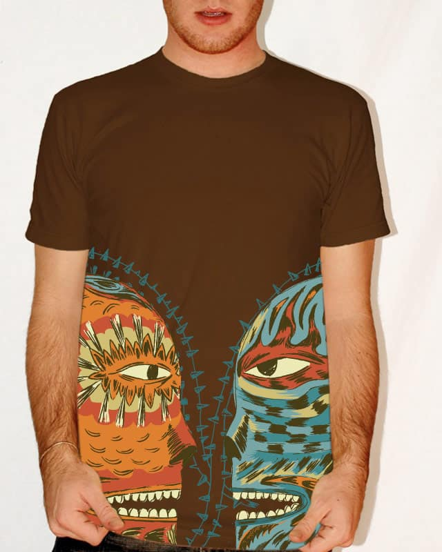 a friendly conversation between good & evil by suceda on Threadless