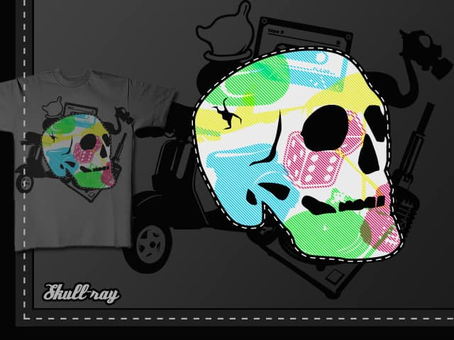 Skull Ray by Flabb on Threadless