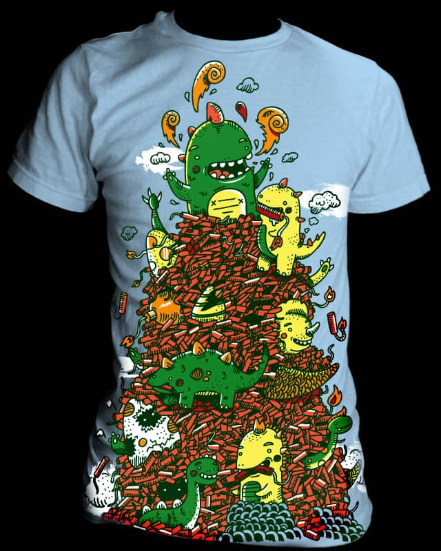 dino-mite mountain by jean_warhol on Threadless