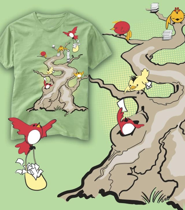 Decision Day at the Old Tree by tChap on Threadless