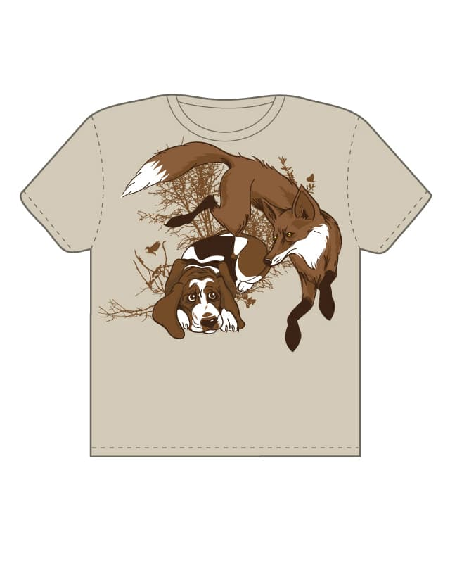 The Quick Brown Fox by ghost4hire on Threadless
